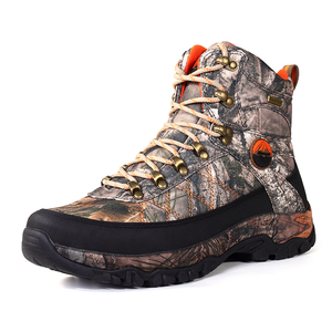 Rubber camo hunting boots