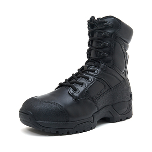 Tactical military leather officer training boots