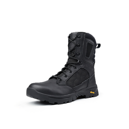 8 Inches Black hard wearing military tactical boots