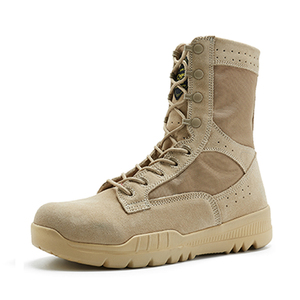 Sand color light weight military boots